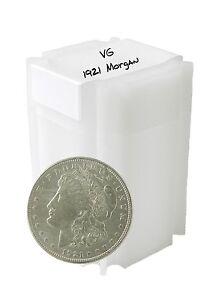 1921 Silver Morgan Dollar VG/VF Lot of 10 S$1 Coins
