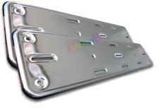 MAZDA MX5 RX8 CX7 RX7 1 2 2X HEAVY STAINLESS number plate surrounds trim frame