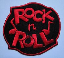RED ROCK 'N' AND ROLL MUSIC LOGO EMBROIDERED IRON ON PATCH Free Shipping