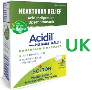 Boiron Acidil Tablets (60) for Indigestion, Heartburn, Bloating, Upset Stomach