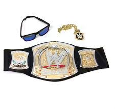 WWE Wrestling SPINNING US TITLE BELT & costume accessories inc Metal Pendant