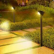 2er LED Solarleuchte Gartenstrahler mit Bewegungsmelder Gartenbeleuchtung Außen