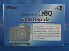 Canon D80 Digital Camera Spanish Instruction Manual dq