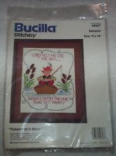 """New listing Bucilla Stitchery : Fisherman's Hope Sampler - Size 11"""" x 14"""" - New in Package"""