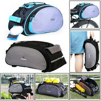 Roswheel Cycling Bicycle Bike Shoulder Handbag Pannier Rear Seat Bag Rack Trunk