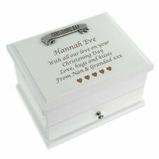 Christening Gifts Personalised Engraved Girls Quality Wooden Jewellery Box Gift
