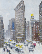Wiggins Guy The Flatiron Building In Winter Time Print 11 x 14  #5064