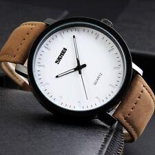 Mens Unique Analog Quartz Waterproof Business Casual Leather Dress Wrist Watch