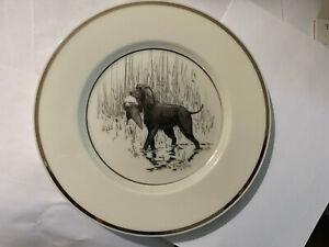 Vintage Hunting Dog Plate Lenox Irish Water Spaniel by Richard Bishop circa 1936