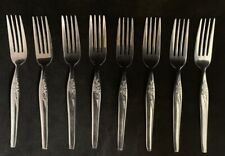 Nasco Stainless Silverware - CHINTZ ROSE - 8 Dinner Forks Korea
