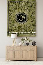 Divine Om Mandala Printed Poster Indian Cotton Wall Hanging Decor Tapestry Dorm