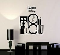 Vinyl Decal Beauty Salon Girl Room Fashion Makeup Style Wall Stickers (ig3628)