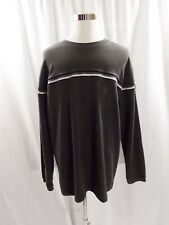NWT Xtreme Gear Men's  Gray Black White Striped Sweater Size XL Extra Large