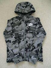Boy's Nike Black/Grey Camo Hooded Jacket Size M (Age 10-12 Years)