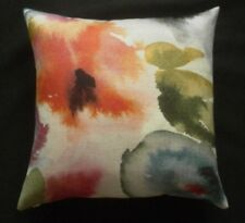 "Harlequin Fabric Cushion Cover FLORES Fuchsia/Zest/Azure - 18"" - #1"