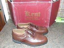 New listing KENT   Mens brown  leather spiked  golf shoes UK 8