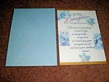 TO MY DAUGHTER - GRADUATION HALLMARK GREETING CARD - NEW - VINTAGE UNUSED
