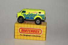 MATCHBOX #MB26 4X4 CHEVROLET VAN, NEON YELLOW, NEW IN BOX