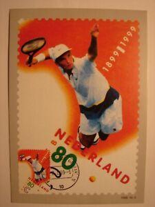 (NL3175) TENNIS SPORTS 1999 NETHERLANDS maximum maxi card postcard