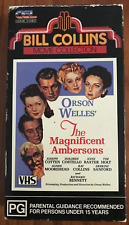 THE MAGNIFICENT AMBERSONS ORSON WELLES JOSEPH COTTEN AS NEW RARE PAL VHS VIDEO