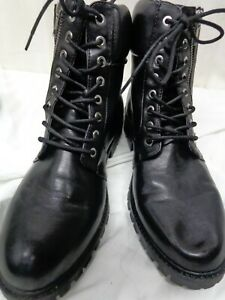 Forever 21 Black High-top Ankle Combat Boots Size 8
