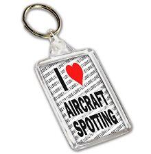 I Love Aircraft Spotting - Keyring - Gift - Birthday - Christmas