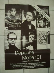 Depeche Mode 101 Original Kinoplakat Poster Live at the Pasadena Rosebowl RAR!!!