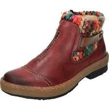 Rieker Z6784 Wool Lined Flat Rambler Womens Knit Panel Warm Ankle Boots