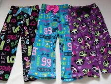 Girls Set of 3 Fleece Sleep Pants Size 10 Pajamas EUC Winter Pjs Cheerleading