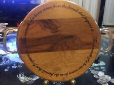 Mud Pie Round Wood Sentiment Cheese Cutting Board With Handles EXC