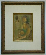 G. Bezalel Oil Painting Mother & Child Jewish Modern Israel Art Judaica Unknown
