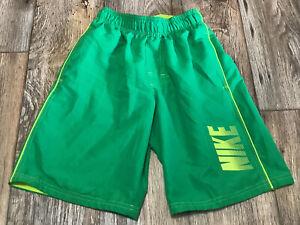 Nike Board Shorts Boys Kids Small Neon Yellow Bright Green EUC
