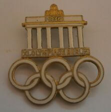 Olympics 1936 X1 Olympiade Berlin White Brooch Pin Badge