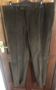 """Marks And Spencer Brown Corduroy Trousers W40"""" L33"""""""