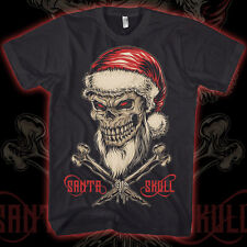 skull santa crossbones pirate gangster rap christmas tshirt  MENS t SHIRT ts5