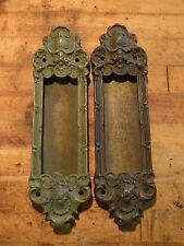 Pair of Cast Brass Pocket Door Pulls Y&T Yale & Towne Navarro 854