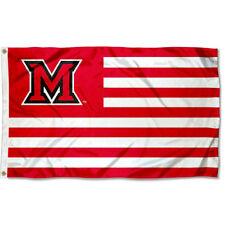 Miami University Redhawks Stars and Stripes Nation USA Flag