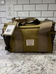 New! $145 Filson Dark Tan Tin Cloth Soft-Sided Lunch Cooler Bag. Made In USA