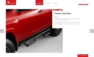 2014 & Newer 4Runner Predator Step Tubes Running Boards Genuine OEM (Nerf Bars)