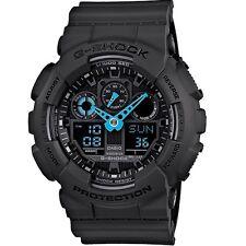 ** Nuevo * PARA HOMBRE CASIO G-shock Reloj de neón azul XL GA-100C-8ACR 8AER RRP £ 199