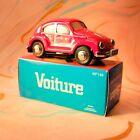 vintage Boxed tinplate toy vw volkswagen beetle sedan friction Drive Red