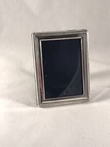 Hallmarked Solid Silver Photograph Frame Beaded Border