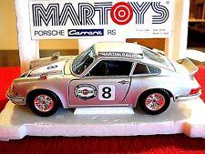 BURAGO MARTOYS 0114 PORSCHE CARRERA RS SILVER #8 MARTINI RACING ITALY 1:24 NICE!