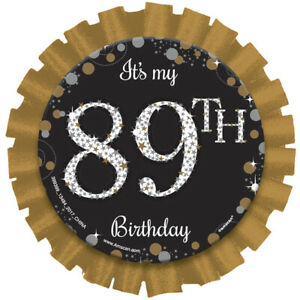 Age Badge Rosette Add Your Own Age Stickers Included