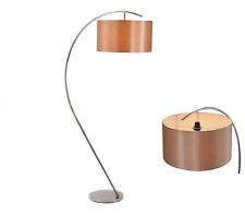 Industrial Style Copper Floor Standard Lamp Chrome Base Standing Lighting