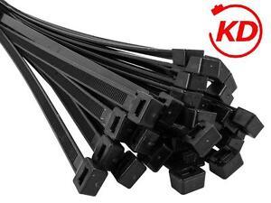 NEU Kabelbinder 100 Stück - 7,6 / 7,8 x 450 mm, natur / schwarz Kabelstrapse