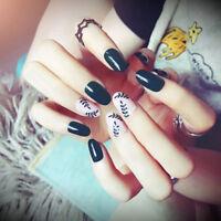 24pcs fake nails art tips acrylic nail false french artificial full nail gr H PR