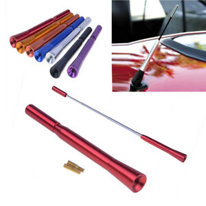 Red Extensible Car Auto Aerial Bee Sting Mast Antenna Ariel Arial Radio Stubby