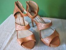 Camilla Skovgaard Rose-Gold Metallic Leather Stilettos NWOB Size 38
