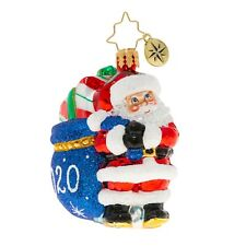 NEW Christopher Radko SANTA'S 2020 DELIVERY Snowman Christmas Ornament 1020233